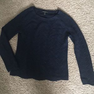 Navy Blue Patterned Sweater